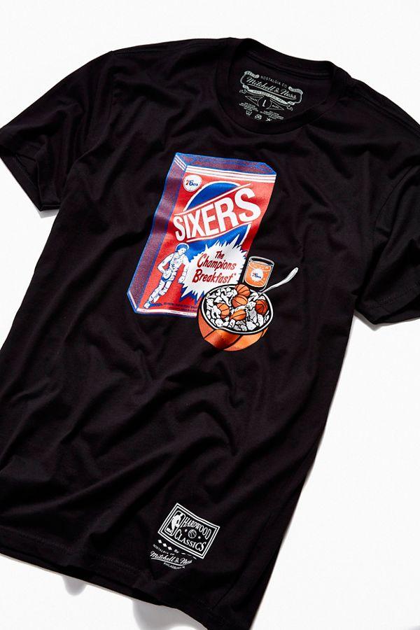 info for e416b 937ef Mitchell & Ness Philadelphia 76ers Breakfast Tee