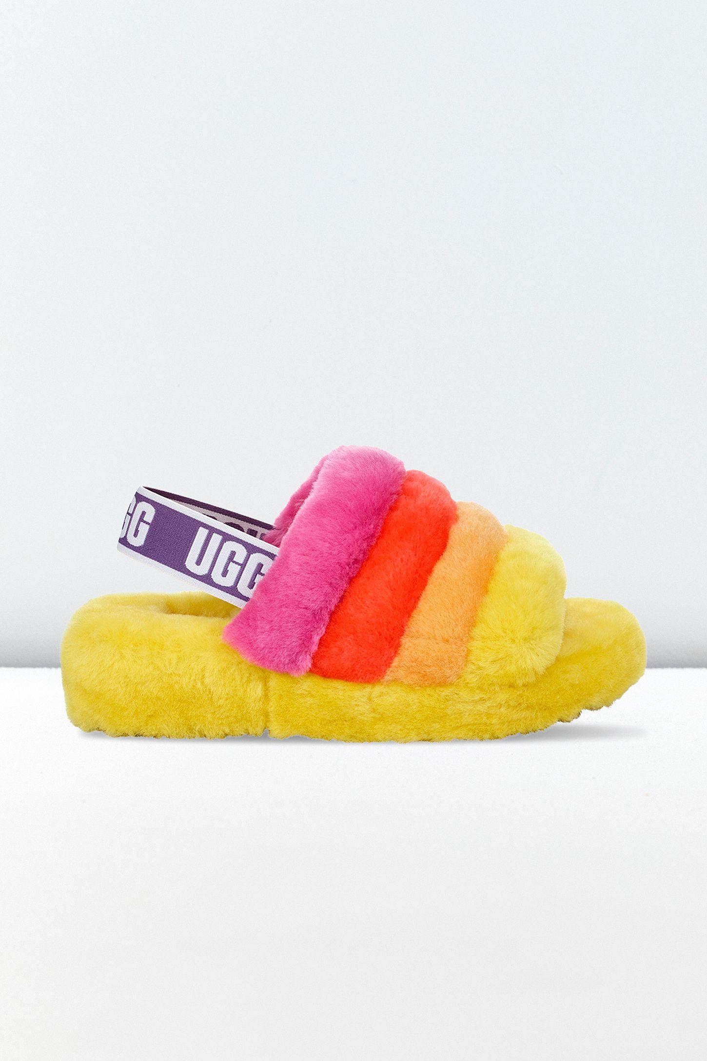 998a334905b UGG Fluff Yeah Pride Slide Sandal