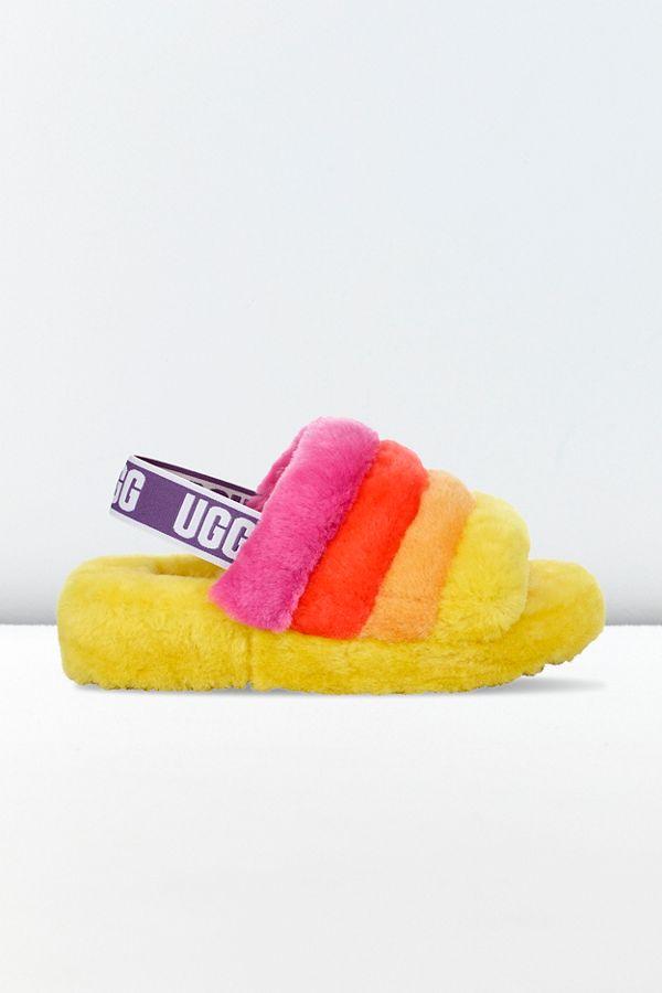 25d1ebd4232 UGG Fluff Yeah Pride Slide Sandal