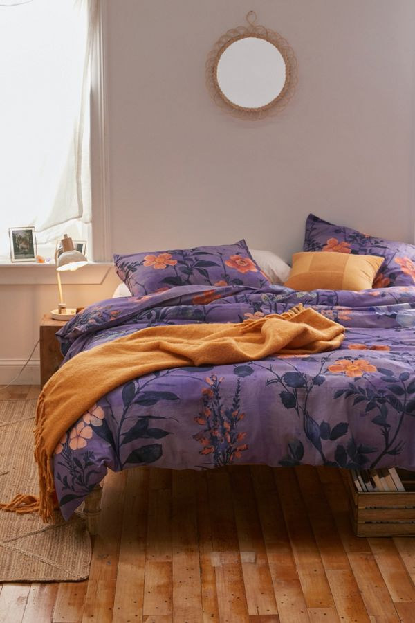 Lorelei Floral Duvet Cover by Urban Outfitters