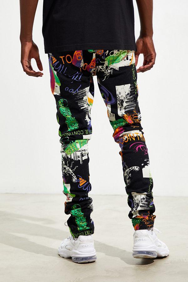 UO Outland Art Print Skinny Pant