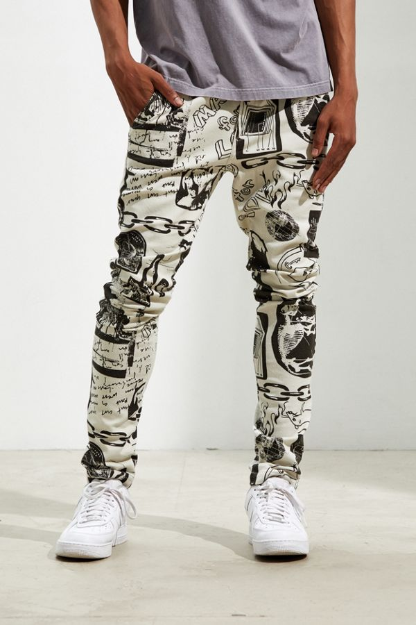 Uo Outland Art Print Skinny Pants by Urban Outfitters