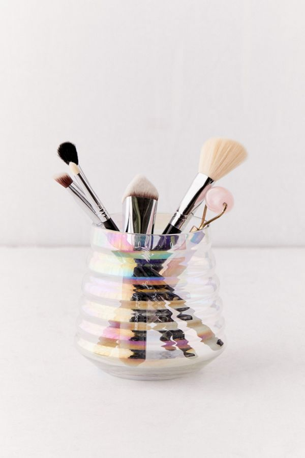 Iridescent Makeup Brush Holder by Urban Outfitters
