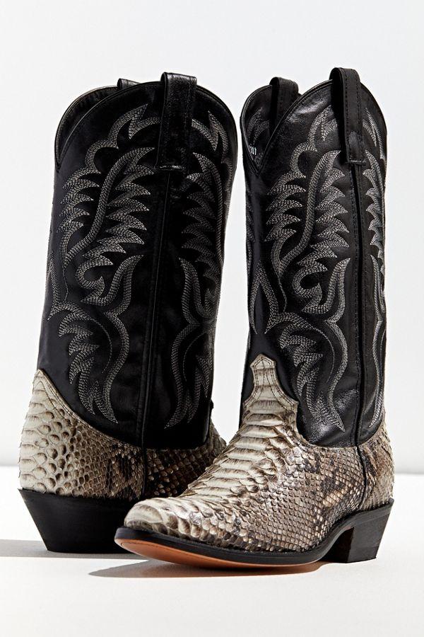 ddee12c9bf2 Dan Post Key West Python Cowboy Boot