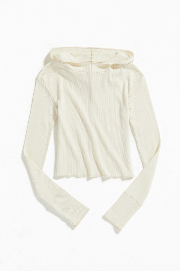 Out From Under Benji Waffle Knit Hooded Tee by Out From Under