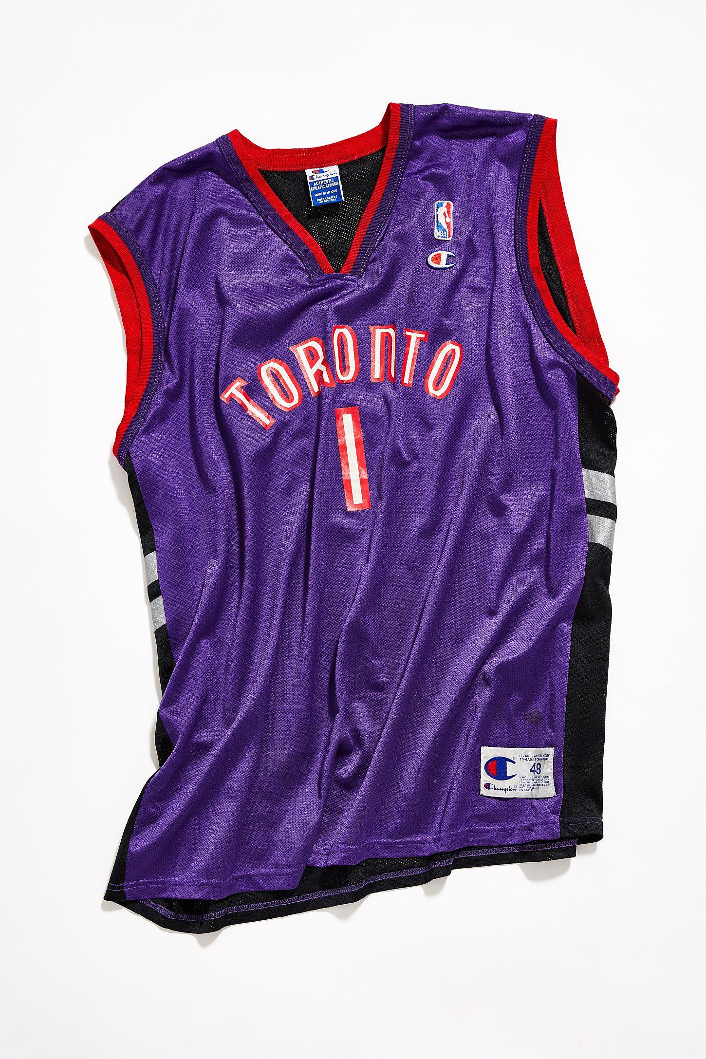 san francisco e16de 83078 Vintage Toronto Raptors Basketball Jersey