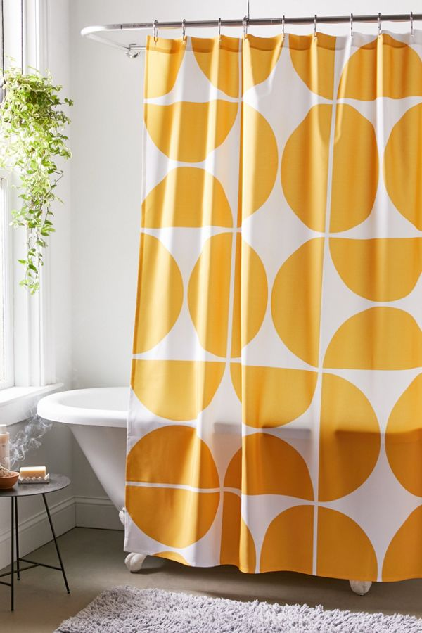 Slide View: 1: The Old Art Studio For Deny Mid-Century Modern Geometric 04 Shower Curtain