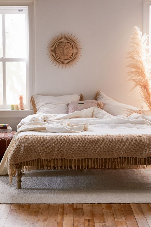 Zahara Crochet Duvet Cover by Urban Outfitters