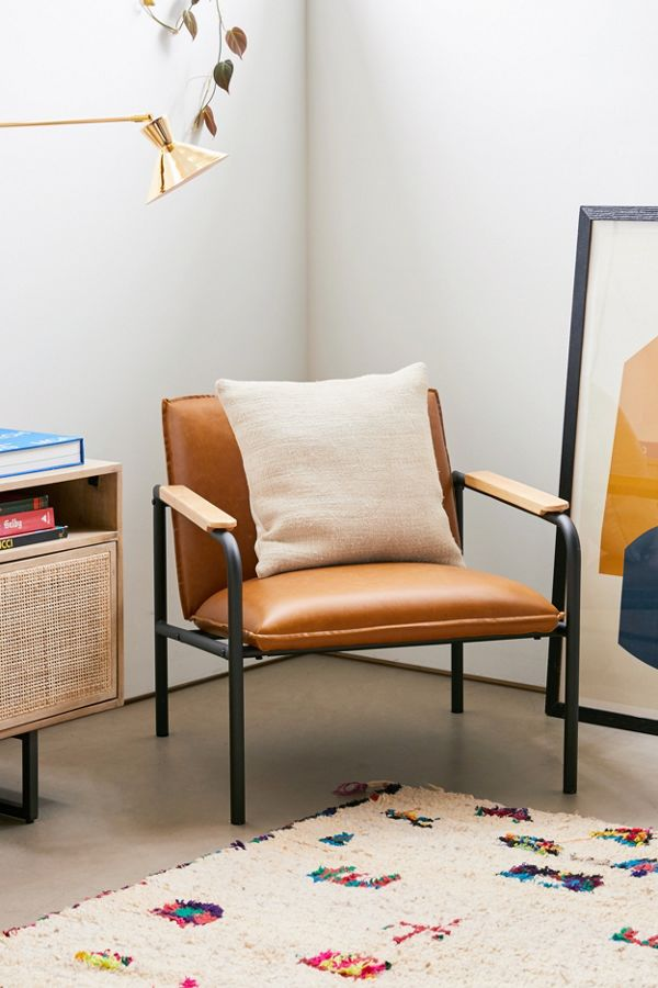 Admirable Wesley Faux Leather Lounge Chair Ibusinesslaw Wood Chair Design Ideas Ibusinesslaworg