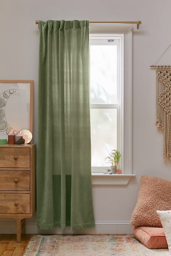 Slide View: 1: Cotton Velvet Window Panel