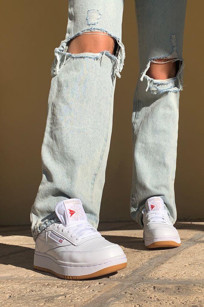 cepillo Goma de dinero Disciplinario  Reebok UO Exclusive Club C Double Sneaker | Urban Outfitters