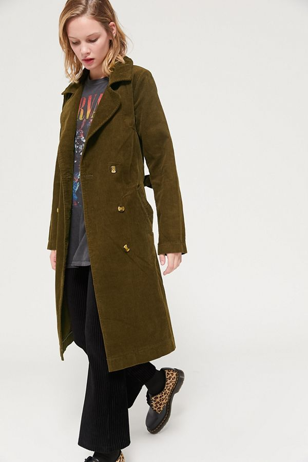 100% satisfaction super cheap compares to 2019 professional BDG Hailey Corduroy Trench Coat
