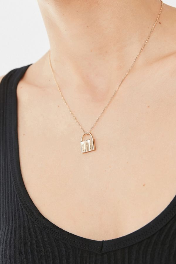 Simple Lock Pendant Necklace Urban Outfitters
