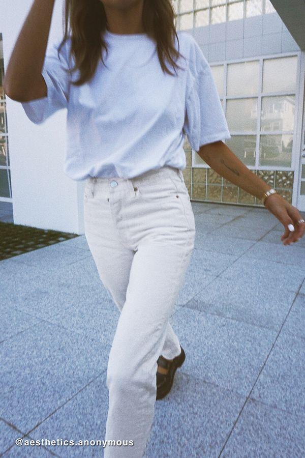 Bdg Premium High Waisted Straight Leg Jean – Ivory Denim by Bdg
