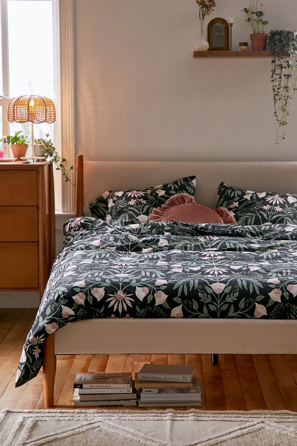 Slide View: 1: Camille Floral Duvet Set