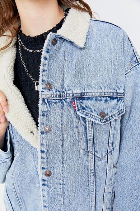 Levi's Blue L Vintage Women's Light Sherpa Jacket Size 12 (L