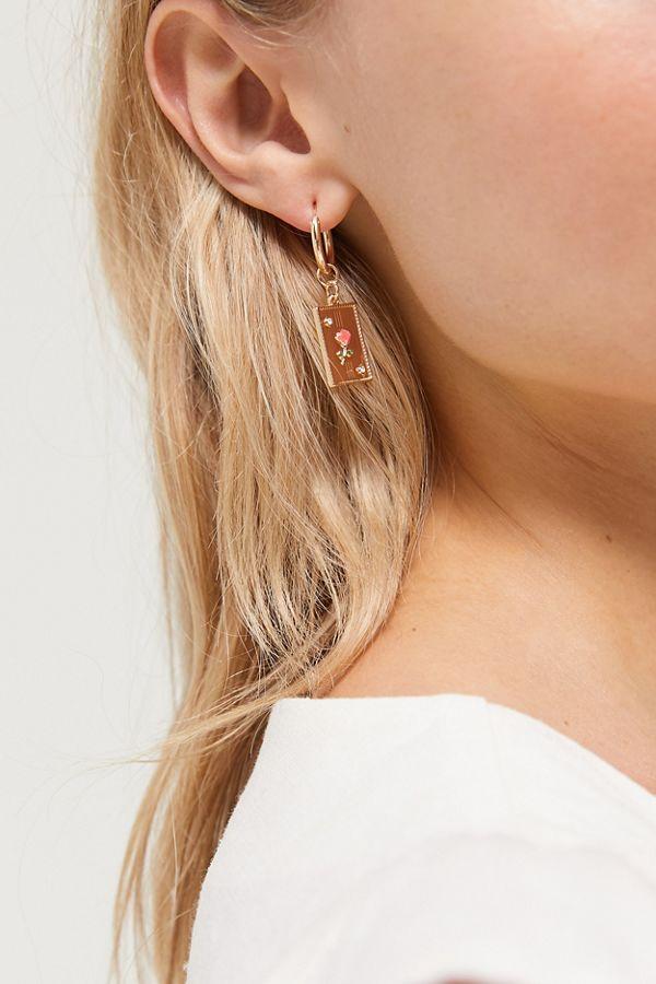 rosie-charm-hoop-earring by urban-outfitters