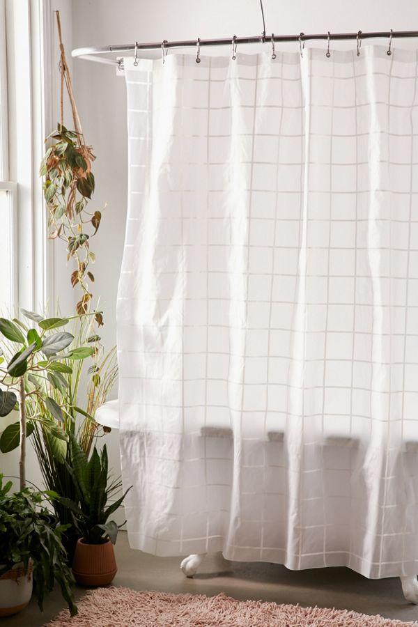 Grid Peva Shower Curtain