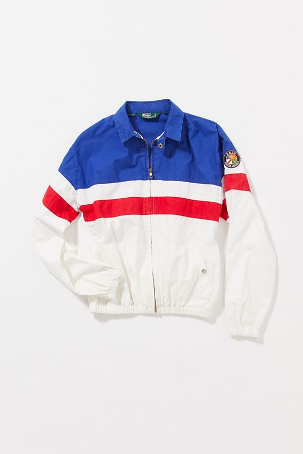 f28d682318 Vintage Polo Ralph Lauren Red, White And Blue Windbreaker Jacket
