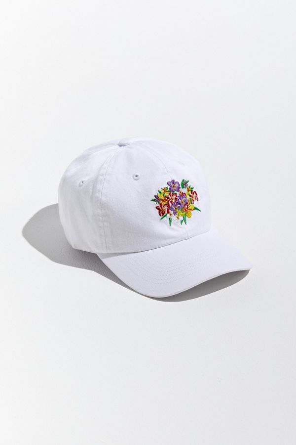 Embroidered Floral Baseball Hat by Urban Outfitters
