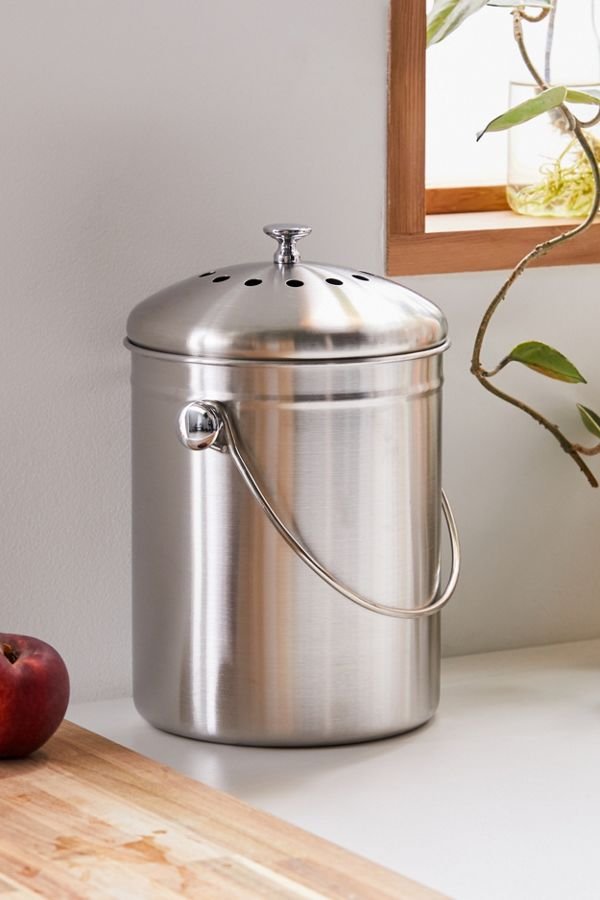 Stainless Steel Compost Bin by Urban Outfitters