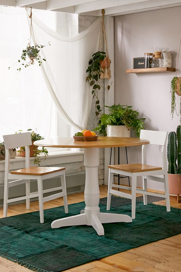 Slide View: 1: Sawyer Drop Leaf Round Dining Table