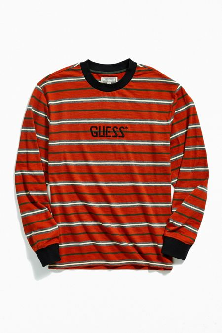 Urban Outfitters x GUESS GUESS St. James Stripe Tee Red M at Urban Outfitters from Urban Outfitters | more