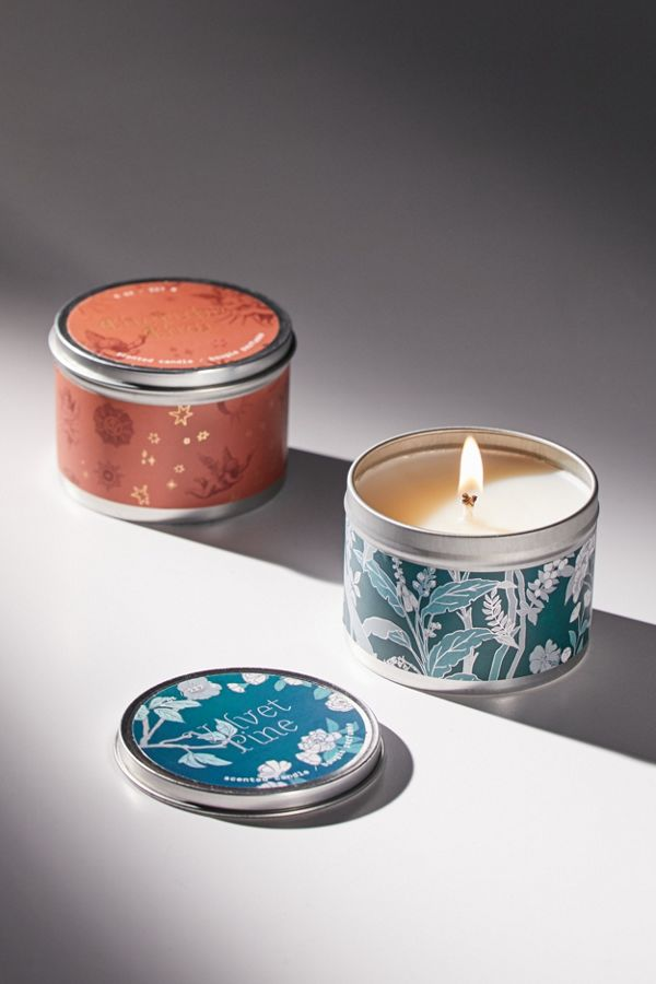 Slide View: 3: Holiday Artist Print Tin Candle