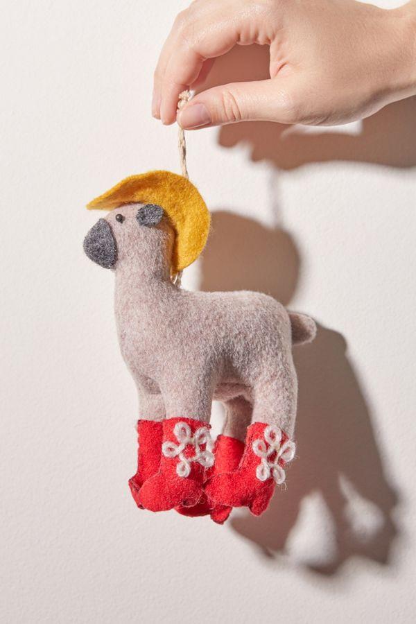 Christmas Llama.Felt Llama Christmas Ornament
