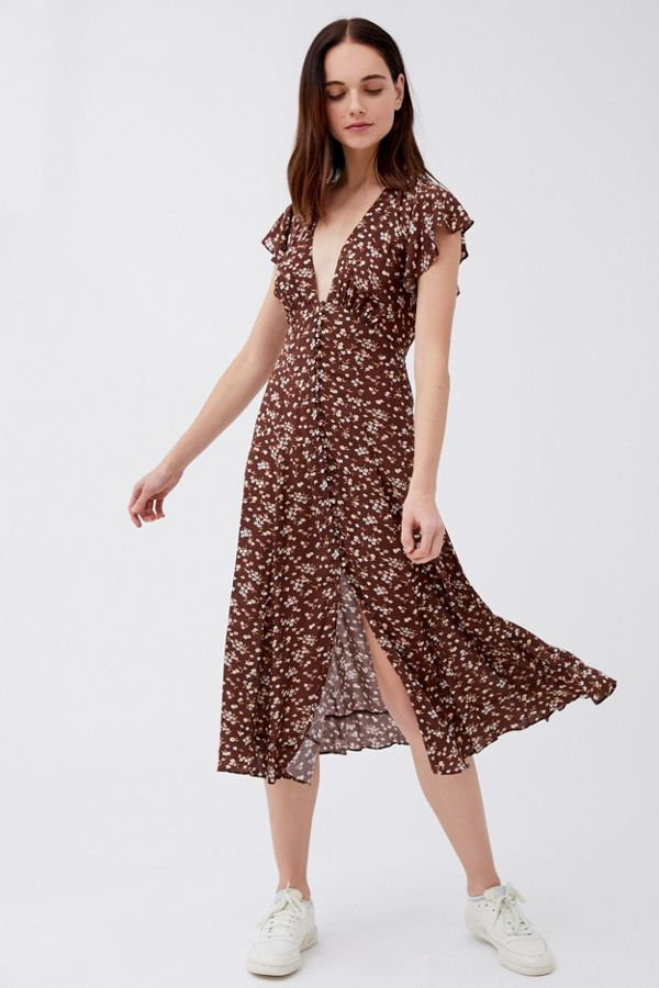 delicate colors super specials ever popular Auguste The Label Cleo Sunday Button-Front Midi Dress | Urban ...