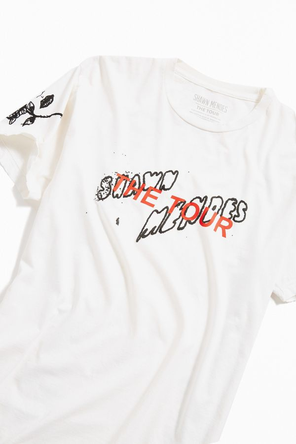 Shawn Mendes Tour Doodle Tee by Urban Outfitters