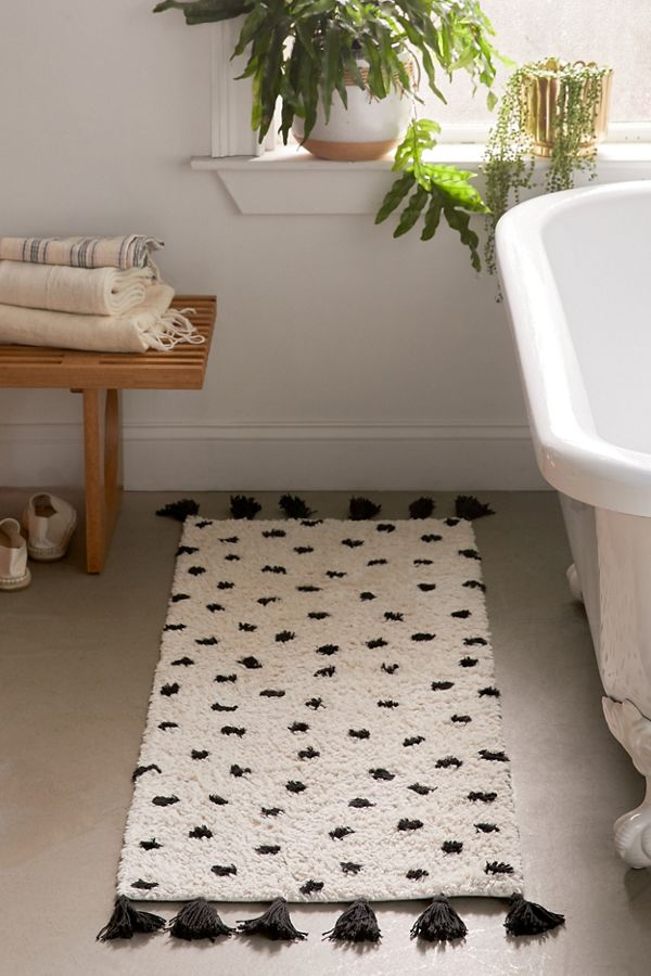 Slide View: 1: Dorit Shag Runner Bath Mat