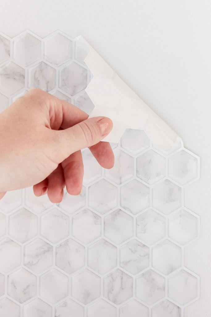 Hexagon Tile Adhesive Backsplash Decal Set Urban Outfitters