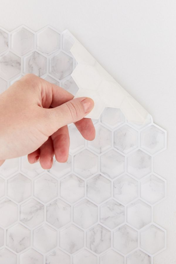 Hexagon Tile Adhesive Backsplash Decal Set by Urban Outfitters