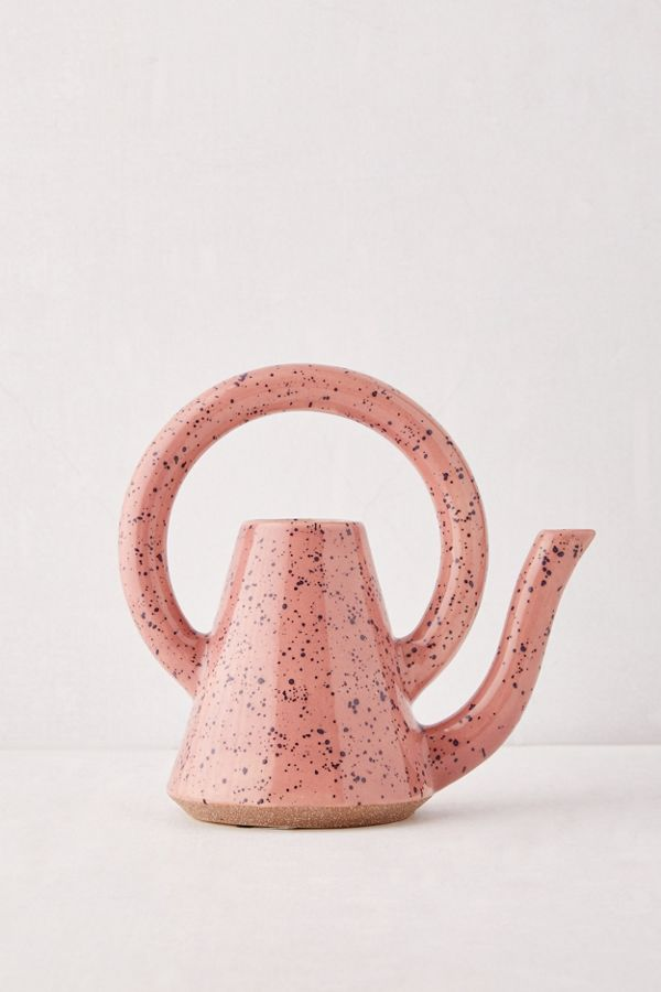 Slide View: 1: Kiera Speckled Ceramic Watering Can