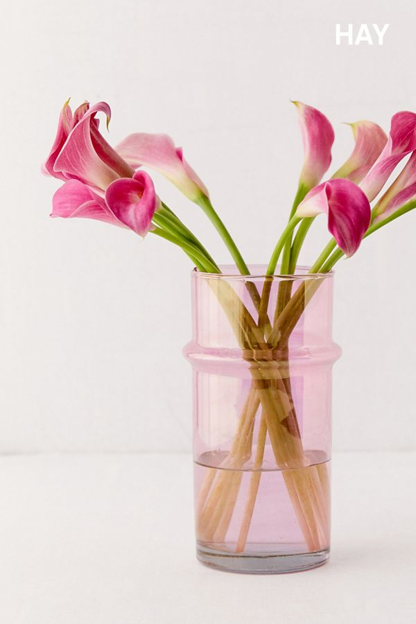 Slide View: 1: HAY Small Glass Moroccan Vase