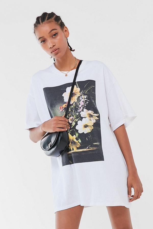 the latest 3dc43 23885 Robe t-shirt à fleurs moderne