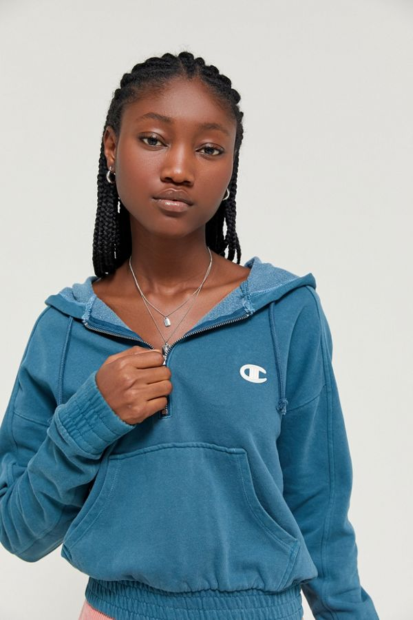 Champion Half Zip Hoodie Sweatshirt | Urban outfitters
