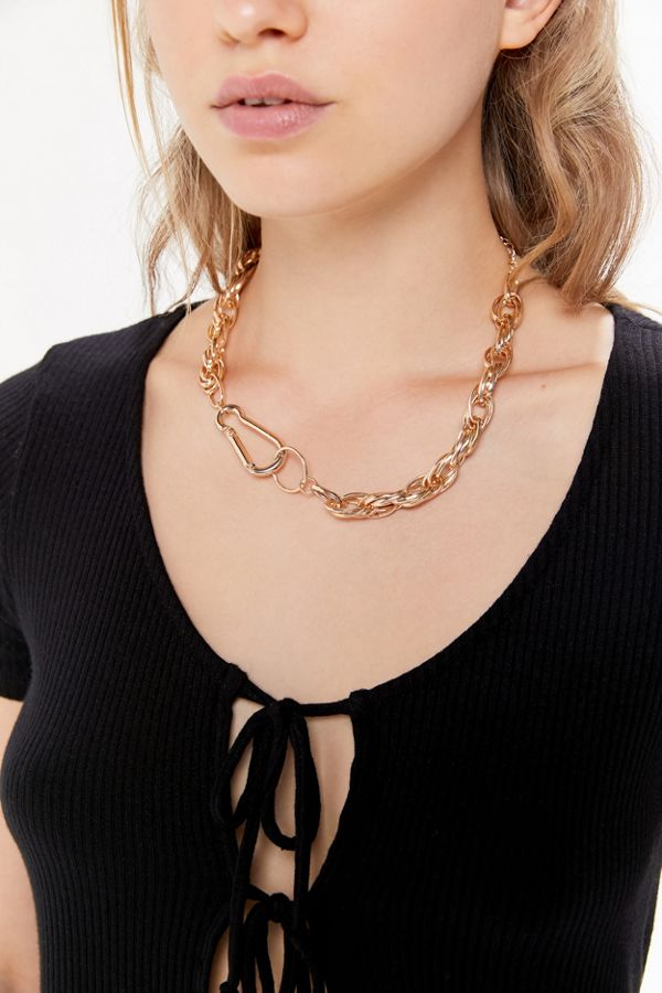 Chunky Clip Chain Necklace by Urban Outfitters