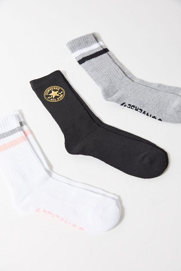 f3f6e2f906d86 Converse Striped Crew Sock 3-Pack