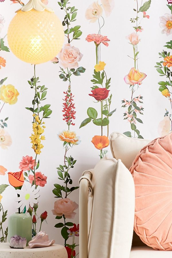 Floral Garland Removable Wallpaper