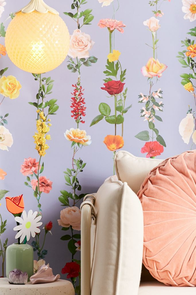 Floral Garland Removable Wallpaper Urban Outfitters