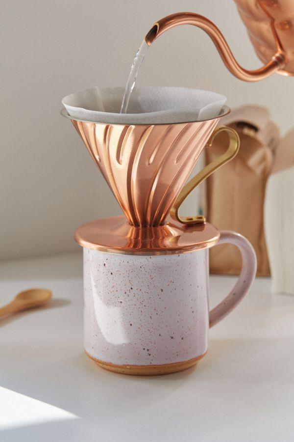 Slide View: 1: Hario Copper Pour-Over Coffee Dripper