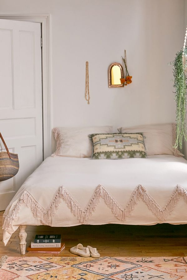 Slide View: 1: Piper Fringe Duvet Cover