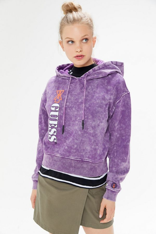 GUESS X 88rising Cropped Hoodie Sweatshirt