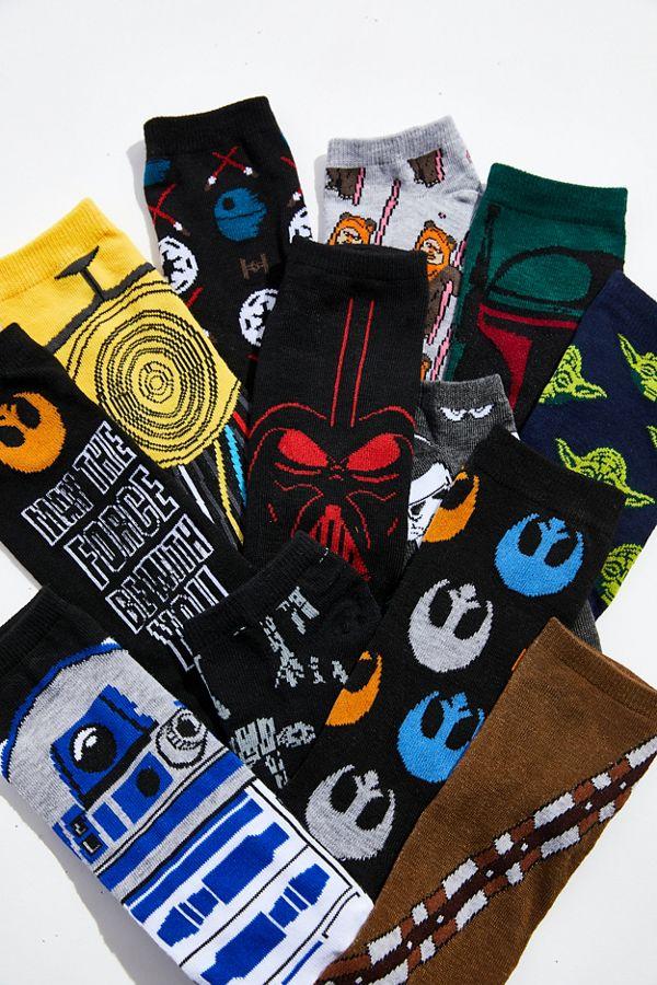 Slide View: 5: Star Wars 12 Days Of Socks Crew Sock 12-Pack