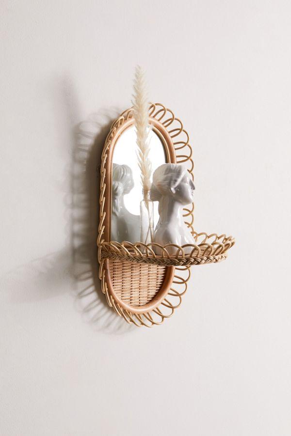 Slide View: 1: Priscilla Mirror Wall Shelf