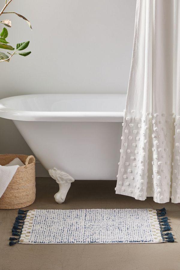 Slide View: 1: Ayla Checker Bath Mat