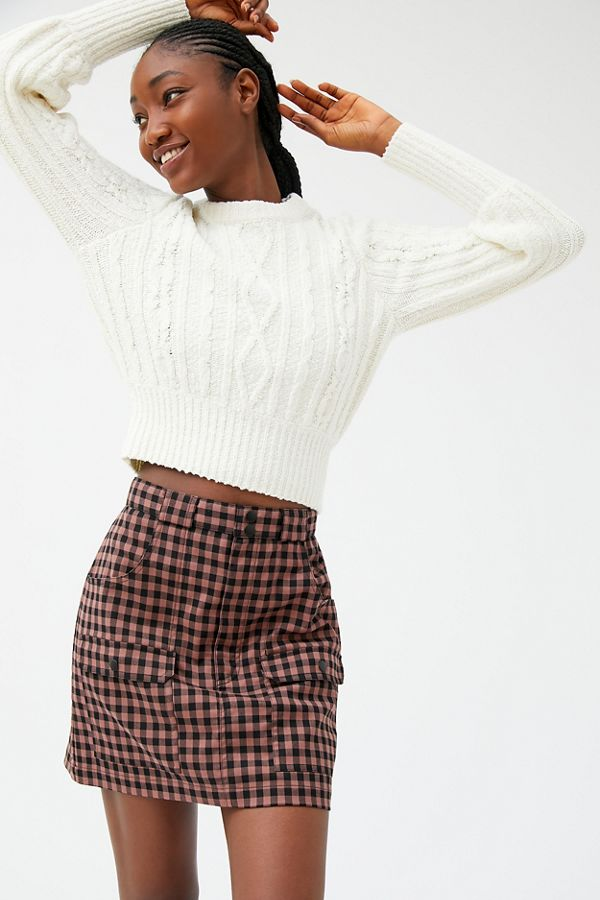Uo Avril Plaid Utility Mini Skirt by Urban Outfitters