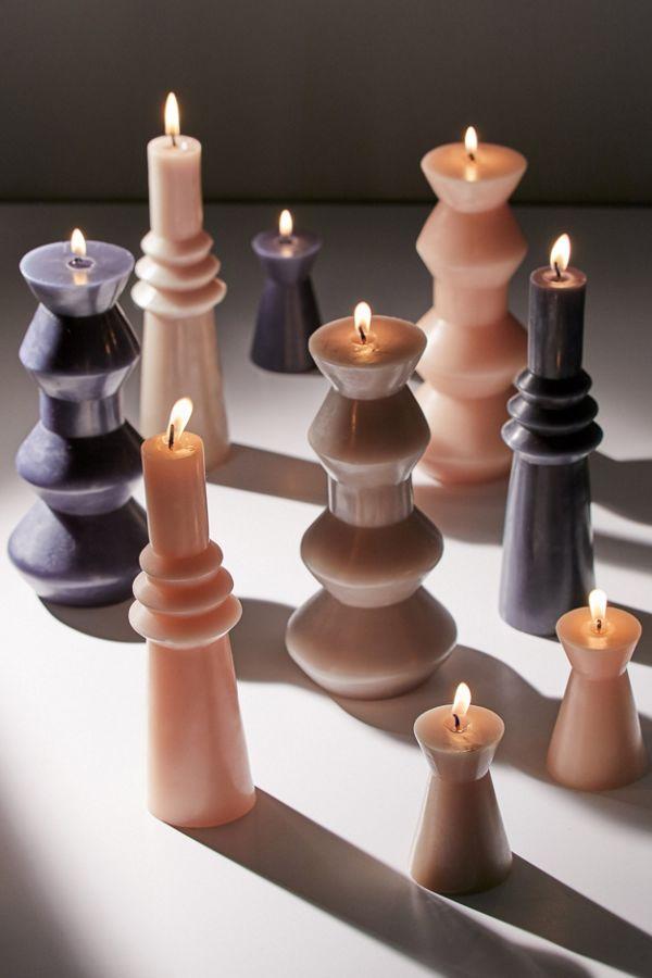 Slide View: 1: Illume Medium Geo Pillar Shaped Candle